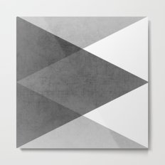 black and white triangles Metal Print