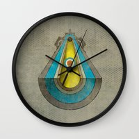 top gun Wall Clocks featuring Gun by Metron