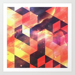 Geometric Fire Art Print