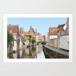 Bruges Canal in Belgium Art Print