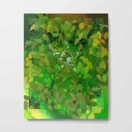Leaf Ghosted Pentacle Metal Print