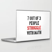math Laptop & iPad Skins featuring Math Struggle by Spooky Dooky