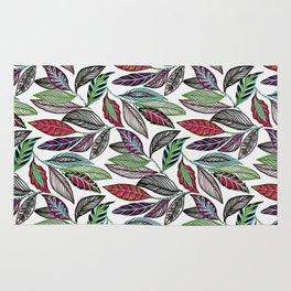 Colorful leaves pattern Rug