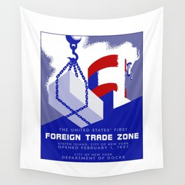 New York Foreign Trade Zone port authority Wall Tapestry