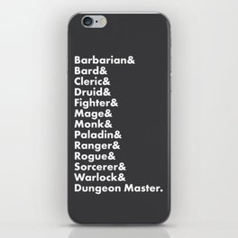 Dungeons and Dragons - Classes iPhone Skin