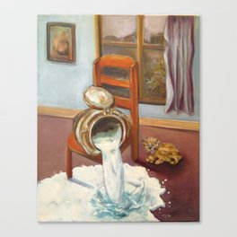 Don't cry over spilled milk Canvas Print