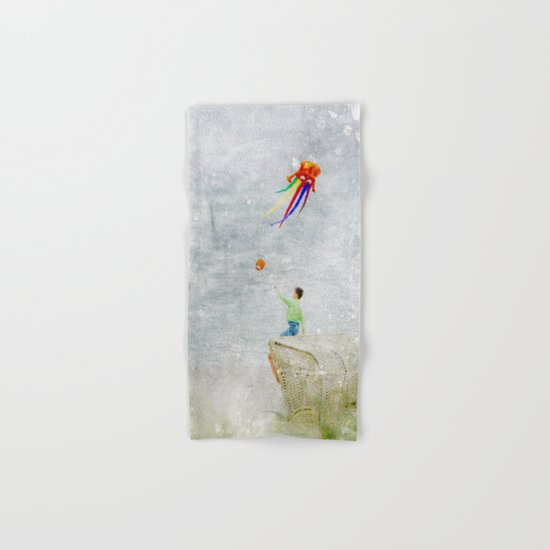 Boy at the beach Hand & Bath Towel