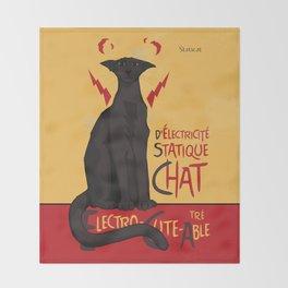d'Electricité Statique Chat [Staticat] Throw Blanket