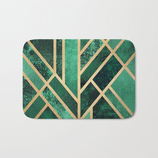 Art Deco Emerald Bath Mat