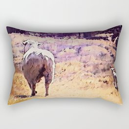 Lamb Frolic with Mama Ewe by CheyAnne Sexton Rectangular Pillow
