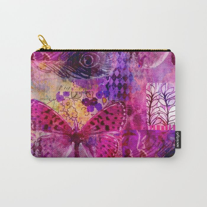 Butterflies Dream In Pink Carry-All Pouch