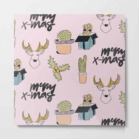 Christmas Cactus Metal Print