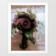 Shabby Rose Art Print