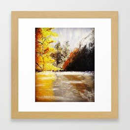 Mountain and reflection Framed Art Print