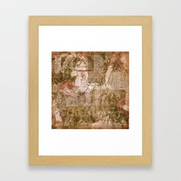 Vintage & Shabby Chic - Victorian ladies pattern Framed Art Print
