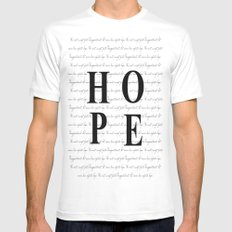 Hope LARGE White Mens Fitted Tee