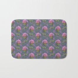 Burdock Flower Pattern Bath Mat