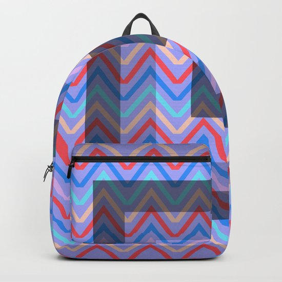 Chevron in shades of blue Backpack