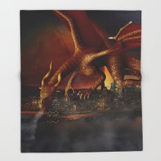 Dragon Attack Throw Blanket
