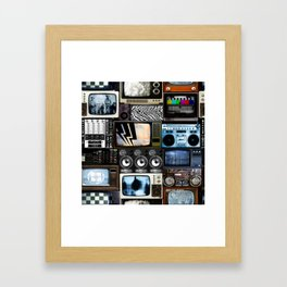 Retro Technology. Framed Art Print