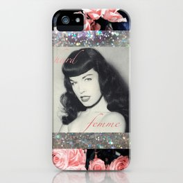 Bettie - Hard Femme - Page  iPhone Case