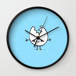 mr egg blue Wall Clock