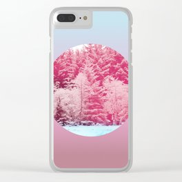 Candy pine trees lens Clear iPhone Case