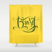 brasil Shower Curtains featuring BRASIL by Roberlan Borges