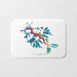 Geometric Abstract Weedy Sea Dragon Bath Mat