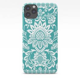 Damask in emerald iPhone Case