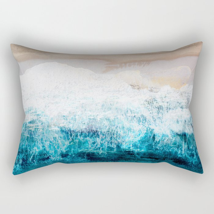 Watercolour Summer beach III Rectangular Pillow
