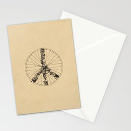 Peace & Bike (Lines) Stationery Cards
