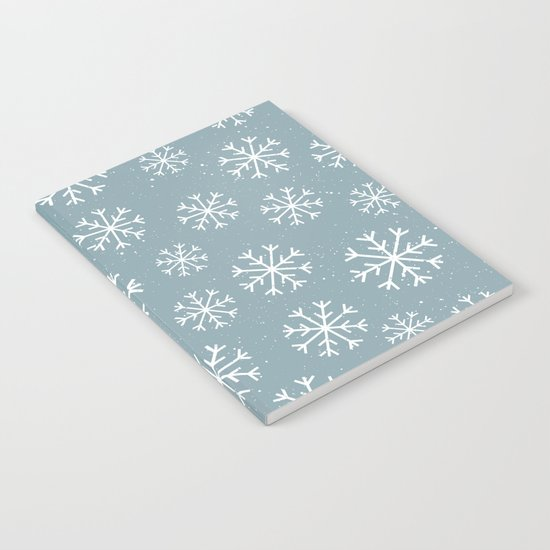 Merry Christmas Wintertime - Snowflakes pattern Notebook