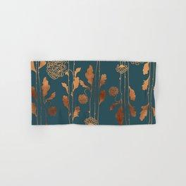 Art Deco Copper Flowers Hand & Bath Towel