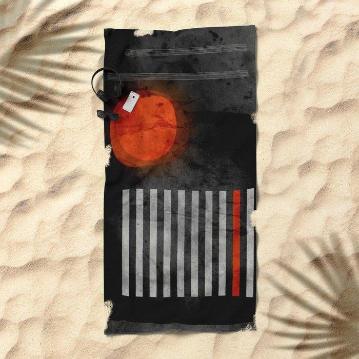 orange wants to be black Beach Towel