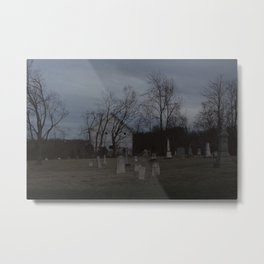 Little Cemetery on the Hill 1 Metal Print