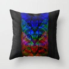 Hipster Cat Art Throw Pillow
