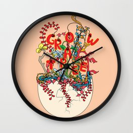 Grow a tree Wall Clock
