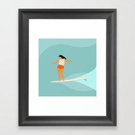 Surf girl Framed Art Print