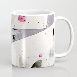 Geometric abstract free climbing gym wall boulders pink white Coffee Mug