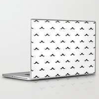 mustache Laptop & iPad Skins featuring mustache by Panic Junkie
