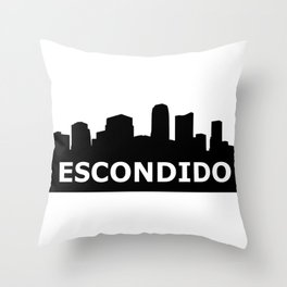 Escondido Skyline Throw Pillow