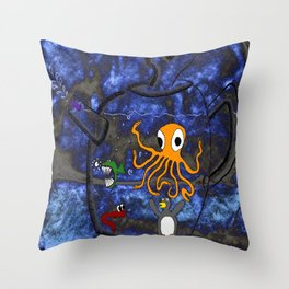 Kettle of Fish (No Text) Throw Pillow
