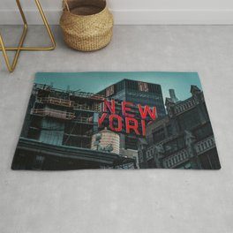 New York red neon Rug