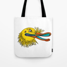 Aggressive Kiwi Bird Graffiti Color Tote Bag