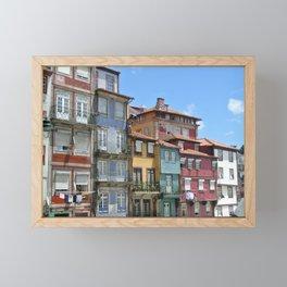 Rainbow Buildings Framed Mini Art Print