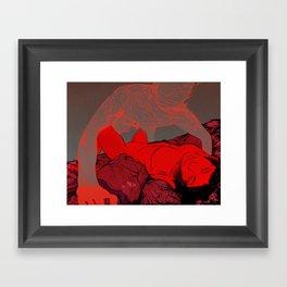 The Meat Market Framed Art Print