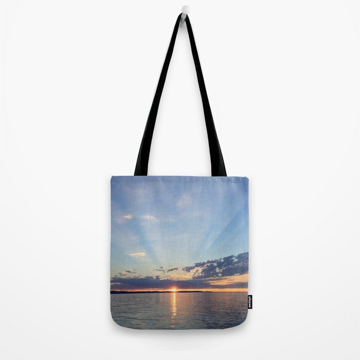 A Seattle Sunset Tote Bag