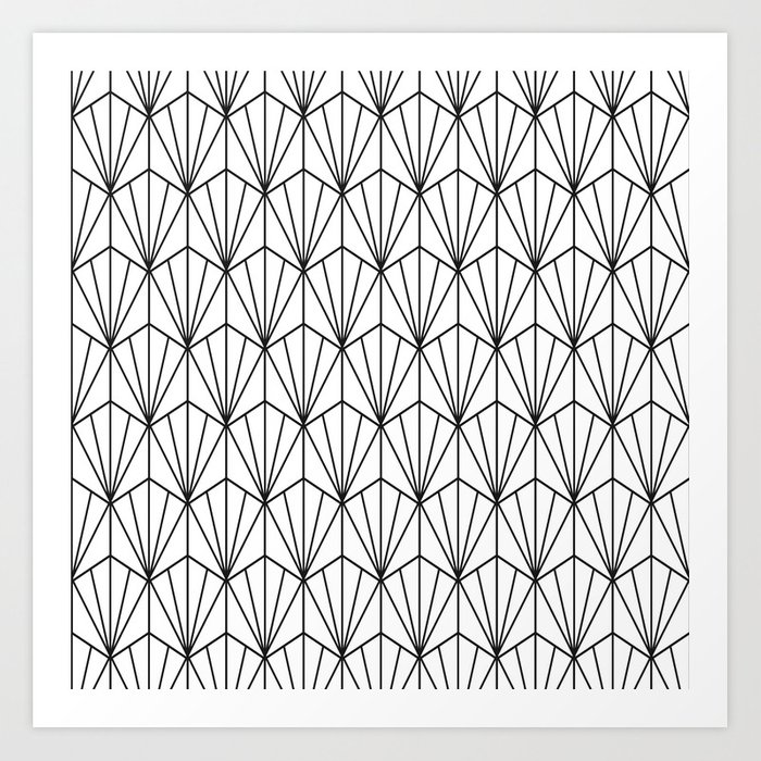 Art Deco Vector in Black and White