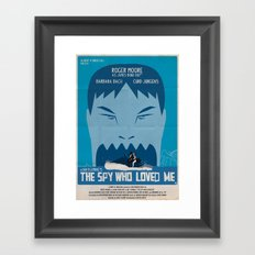THE SPY WHO LOVED ME Framed Art Print